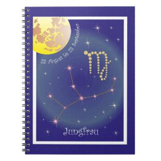 Virgin 23 August until 23 September note booklet Spiral Notebook