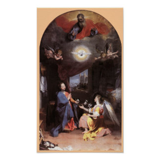 VIRGIN AND ANNUNCIATION ANGEL POSTER