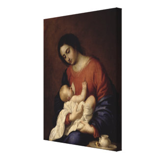 Virgin and Child, 1658 Canvas Print