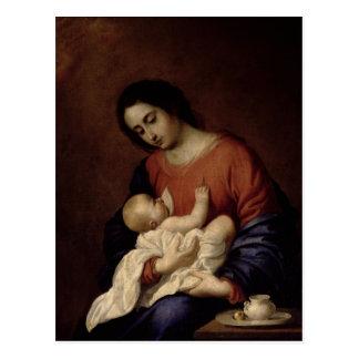 Virgin and Child, 1658 Postcard