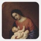 Virgin and Child, 1658 Square Sticker