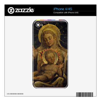 Virgin and Child, 1825 (tempera on panel) iPhone 4 Decal