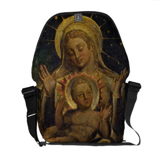Virgin and Child, 1825 (tempera on panel) Messenger Bags