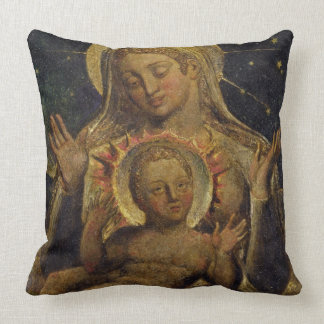 Virgin and Child, 1825 (tempera on panel) Throw Pillow