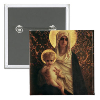 Virgin and Child, 1872 Pinback Button