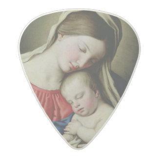 Virgin and Child Acetal Guitar Pick