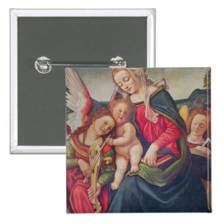 Virgin and Child and angel musicians Buttons
