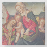 Virgin and Child and angel musicians Stone Beverage Coaster