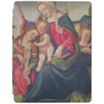 Virgin and Child and angel musicians iPad Cover