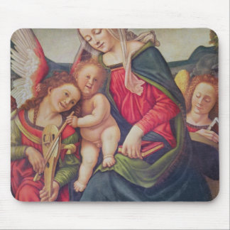 Virgin and Child and angel musicians Mouse Pad