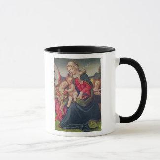 Virgin and Child and angel musicians Mug