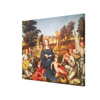 Virgin and Child and angels, 1536-38 Canvas Print