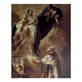 Virgin and Child Appearing to St. Philip Neri, 172 Poster