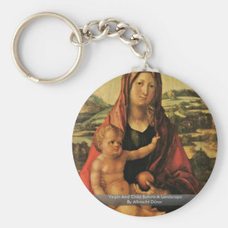 Virgin And Child Before A Landscape Keychains