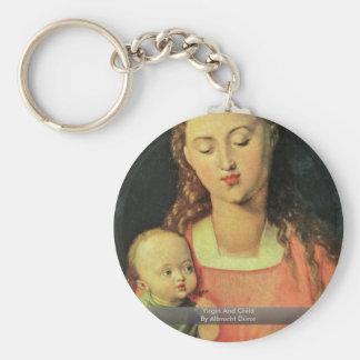 Virgin And Child By Albrecht Dürer Key Chain