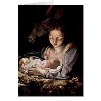 Virgin And Child By Antonio Allegri Da Correggio Greeting Cards