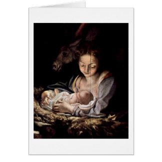 Virgin And Child By Antonio Allegri Da Correggio Card