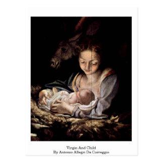 Virgin And Child By Antonio Allegri Da Correggio Postcard