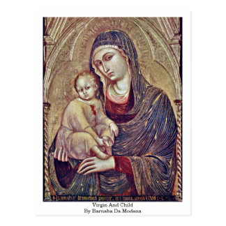 Virgin And Child By Barnaba Da Modena Postcard