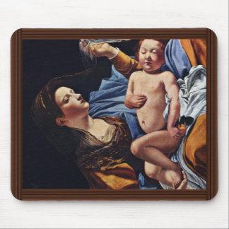 Virgin And Child By Gentileschi Orazio Mouse Pad