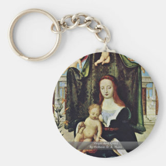 Virgin And Child By Holbein D. Ä. Hans Keychains