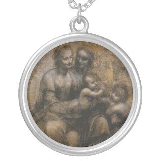 Virgin and Child by Leonardo da Vinci c. 1499. Round Pendant Necklace