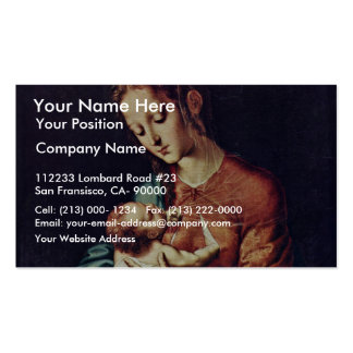Virgin And Child By Morales Luis De (Best Quality) Business Card