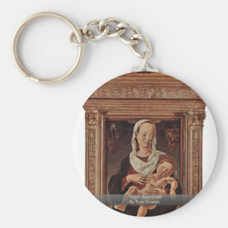 Virgin And Child By Tura Cosmè Keychain
