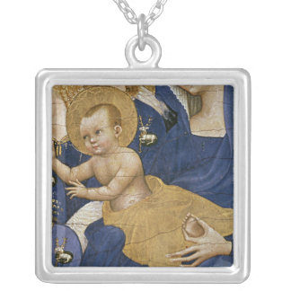 Virgin and Child, c.1395-99 Silver Plated Necklace