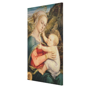 Virgin and Child, c.1465 Canvas Print