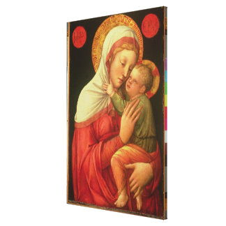 Virgin and Child, c.1465 (oil on panel) Canvas Print