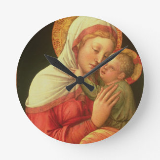 Virgin and Child, c.1465 (oil on panel) Round Clock