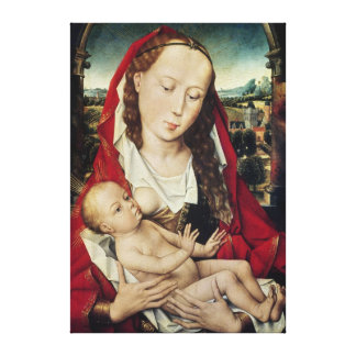 Virgin and Child, c.1467-70 Canvas Print