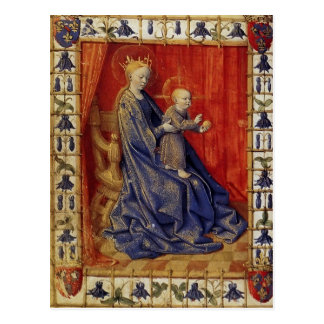 Virgin And Child Enthroned by Jean Fouquet Postcards