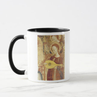 Virgin and Child Enthroned with six angels Mug