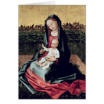 Virgin and Child in the Small Garden Greeting Card