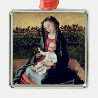 Virgin and Child in the Small Garden Metal Ornament