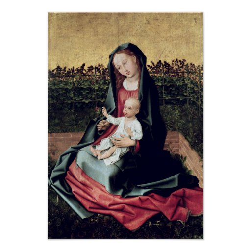 Virgin and Child in the Small Garden Poster