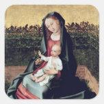 Virgin and Child in the Small Garden Square Sticker
