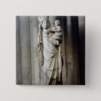 Virgin and Child, known as Notre-Dame de Paris Pinback Button
