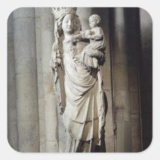 Virgin and Child, known as Notre-Dame de Paris Square Sticker