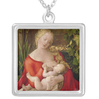 Virgin and Child 'Madonna with the Iris', 1508 Silver Plated Necklace