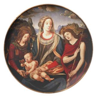 Virgin and Child Melamine Plate