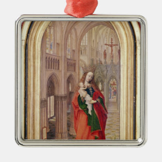 Virgin and Child Metal Ornament