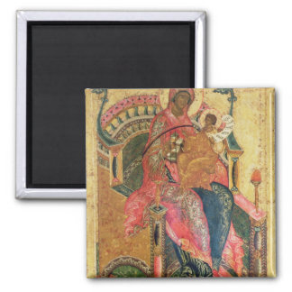 Virgin and Child, Moscow School 2 Inch Square Magnet