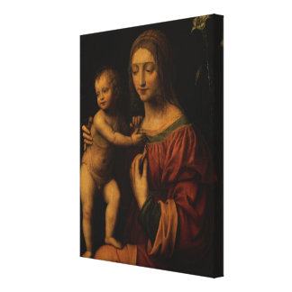 Virgin and Child (oil on panel) 2 Canvas Print