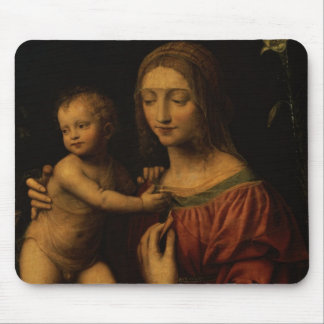 Virgin and Child (oil on panel) 2 Mouse Pad