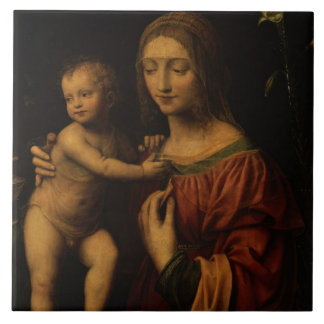 Virgin and Child (oil on panel) 2 Tile
