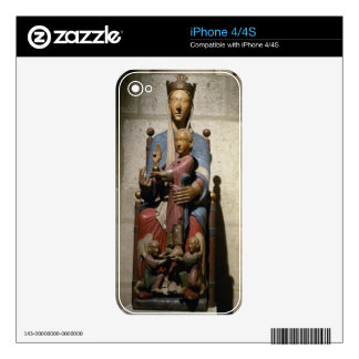 Virgin and Child, (polychrome wood) iPhone 4S Decal
