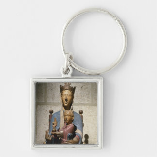 Virgin and Child, (polychrome wood) Keychain